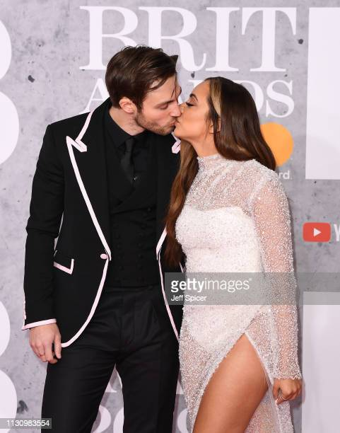 Jed Elliott and Jade Thirlwall attends The BRIT Awards 2019 held at The O2 Arena on February 20, 2019 in London, England.