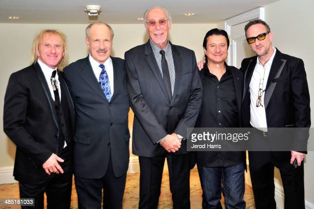 Jed Lieber, Beverly Hills Bar Association's Entertainment Lawyer of the year L. Lee Phillips, Jeff Barry, Steve Perry and Oliver Lieber attend the...