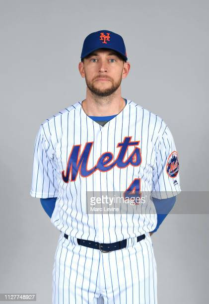 Jed Lowrie of the New York Mets poses during Photo Day on Monday February 25 2019 at First Data Field in Port St Lucie Florida