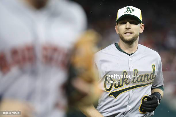 Jed Lowrie of the Oakland Athletics during the 89th MLB AllStar Game presented by Mastercard at Nationals Park on July 17 2018 in Washington DC