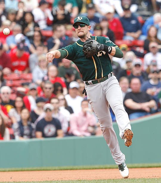 Jed Lowrie of the Oakland Athletics