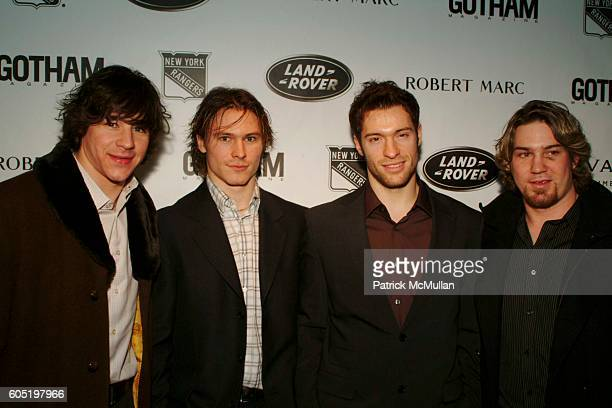 Jed Ortmeyer Petr Prucha Dominic Moore and Ryan Hollweg attend GOTHAM magazine invites you to meet the next Generation of the NEW YORK RANGERS at The...
