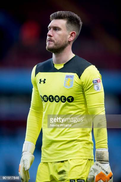 Jed Steer of Aston Villa during the The Emirates FA Cup Third Round match between Aston Villa and Peterborough United at Villa Park on January 06...