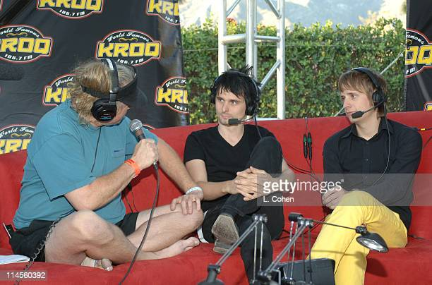 Jed the Fish of KROQ with Matthew Bellamy and Dominic Howard of Muse