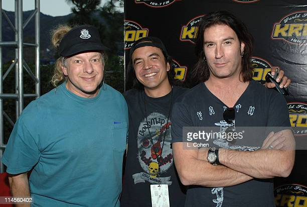 Jed the Fish of KROQ with Mike Inez and Sean Kinney of Alice in Chains