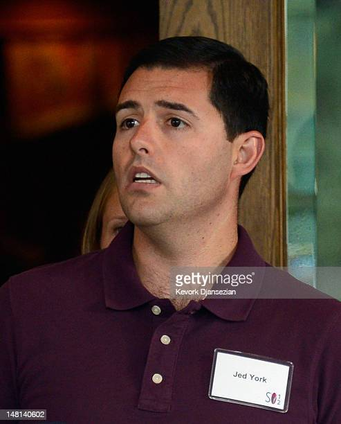 Jed York the CEO of the San Francisco 49ers and the son of Marie Denise DeBartolo York and John York arrives for the Allen Company Sun Valley...