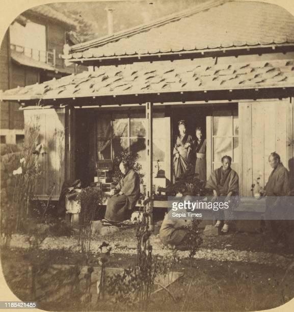 Jeda Group of Japanese and General Construction of a Japanese Dwelling Pierre Joseph Rossier Negretti Zambra 1858Ð1859 Albumen silver print