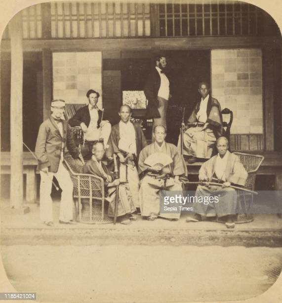 Jeda Group of Japanese Officers with messrs Macdonald Gower and Fletcher Attaches to The British Legation at Jeda Pierre Joseph Rossier Negretti...