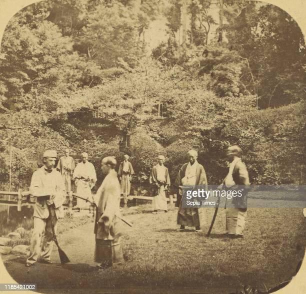 Jeda Group of Japanese Officers with Mr Gower Attache to the British Legation at Jeda Pierre Joseph Rossier Negretti Zambra 1858Ð1859 Albumen silver...