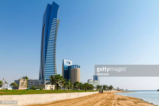 jeddah corniche and beach - saudi stock pictures, royalty-free photos & images