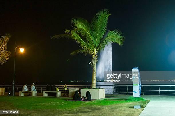 Jeddah Corniche at nigh
