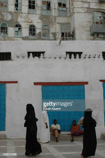 Local residents walk in the old town in Jeddah Saudi Arabia 2nd December 2005