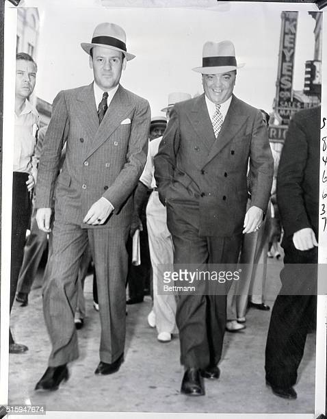 Edgar Hoover and aide Clyde Tolson, to direct the hunt for the kidnapper of 5 year old James B. Cash, Jr.