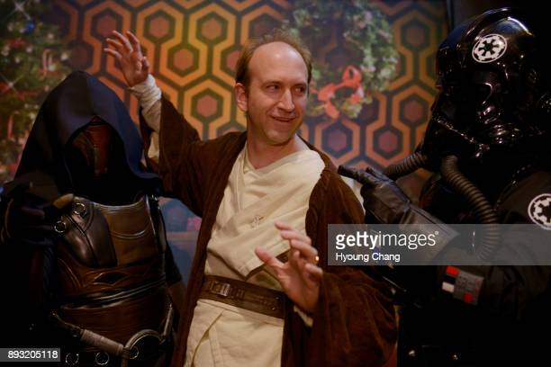Jedi knight Kendall Gelner center captured by Sara Gurnett of Darth Revan left and Tori Smith of TIE pilot at Alamo Drafthouse Cinema in Denver Star...