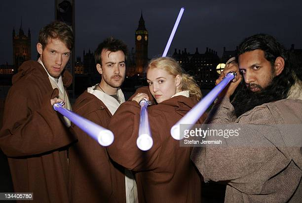 """Jedi Knights during """"Star Wars"""": The Exhibition at County Hall in London, Great Britain."""