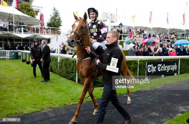 Jedi Master ridden by Adam McNamara n the Paddock 'Ladies Day' at 'Glorious Goodwood' The Qatar Goodwood Festival at Goodwood Racecourse August 3...