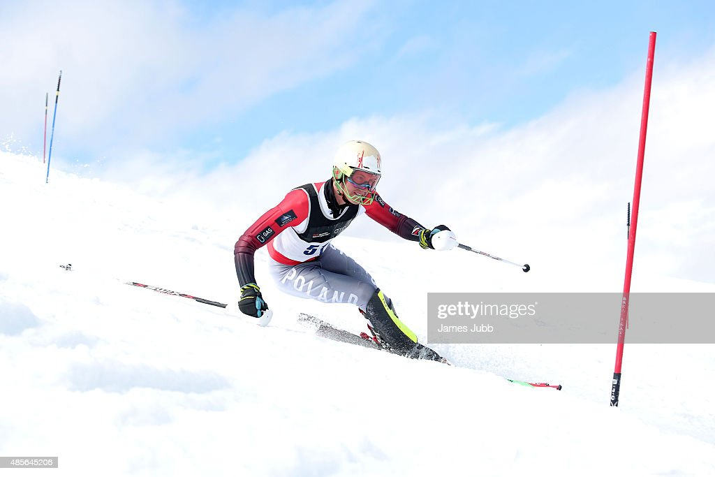 Jedrzej Jasiczek of Poland competes in the Alpine Slalom - FIS Australia New Zealand Cup during the Winter Games NZ at Coronet Peak on August 29, 2015 in Queenstown, New Zealand.