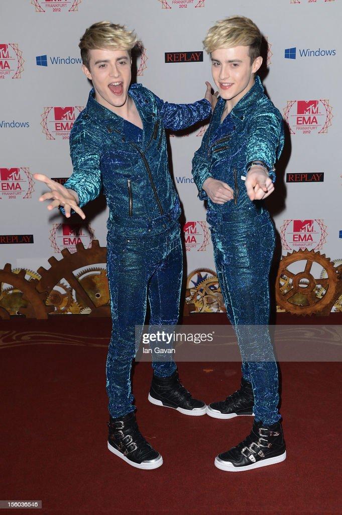 Jedward attend the MTV EMA's 2012 at Festhalle Frankfurt on November 11, 2012 in Frankfurt am Main, Germany.