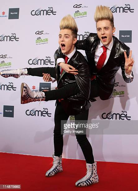 Jedward attend the VIVA Comet 2011 Awards at KoenigPilsner Arena on May 27 2011 in Oberhausen Germany