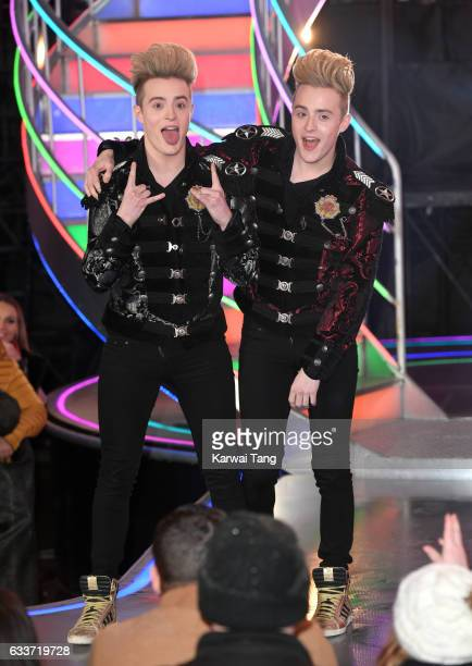 Jedward come 2nd after being evicted from the Celebrity Big Brother house on February 3 2017 in Borehamwood United Kingdom