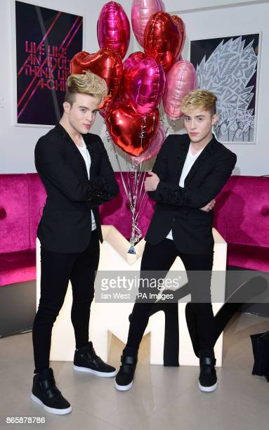 Jedward from new MTV show Single AF join a live facebook chat hosted by Becca Dudley at the MTV studios London