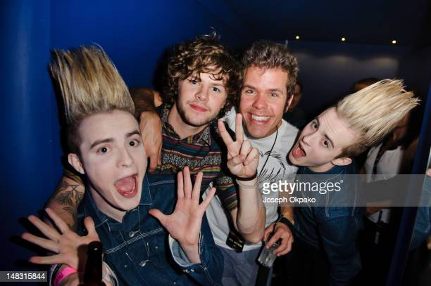 Jedward Jay McGuiness and Perez Hilton attends Perez Hilton's One Night In London at Electric Brixton on July 13 2012 in London England