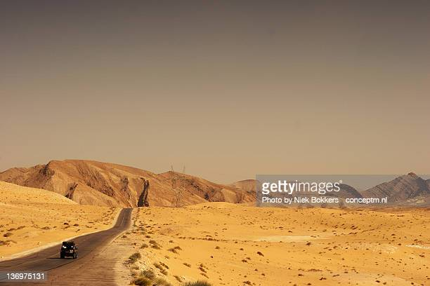 Jeep driving through Sinai desert