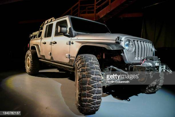 Jeep Gladiator at the F9 Fest event on the Universal Studios backlot celebrating F9: The Fast Saga on September 15, 2021 in Universal City,...