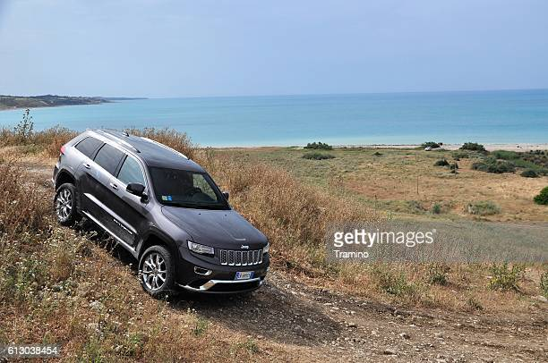 Jeep Grand Cherokee and a view of the sea