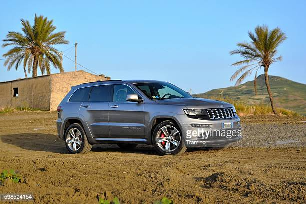 Jeep Grand Cherokee SRT on the unmade road