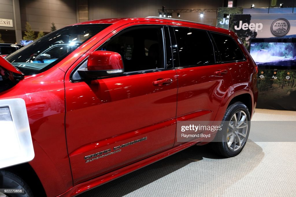 Jeep Grand Cherokee Trackhawk is on display at the 110th Annual Chicago Auto Show at McCormick Place in Chicago, Illinois on February 9, 2018.