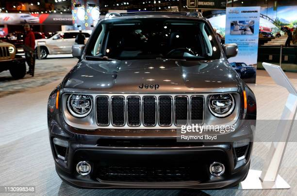 Jeep Renegade is on display at the 111th Annual Chicago Auto Show at McCormick Place in Chicago, Illinois on February 8, 2019.