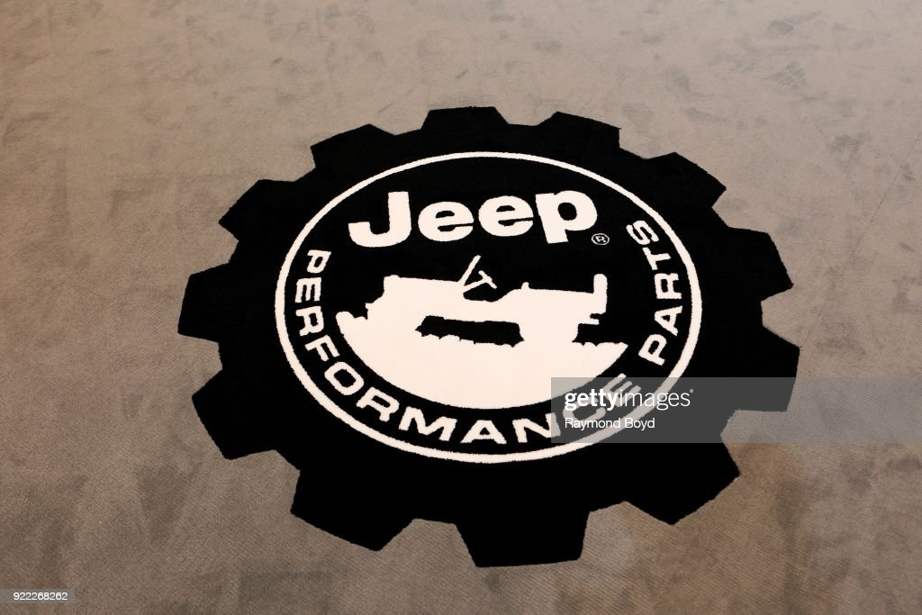 Jeep signage is on display at the 110th Annual Chicago Auto Show at McCormick Place in Chicago, Illinois on February 9, 2018.