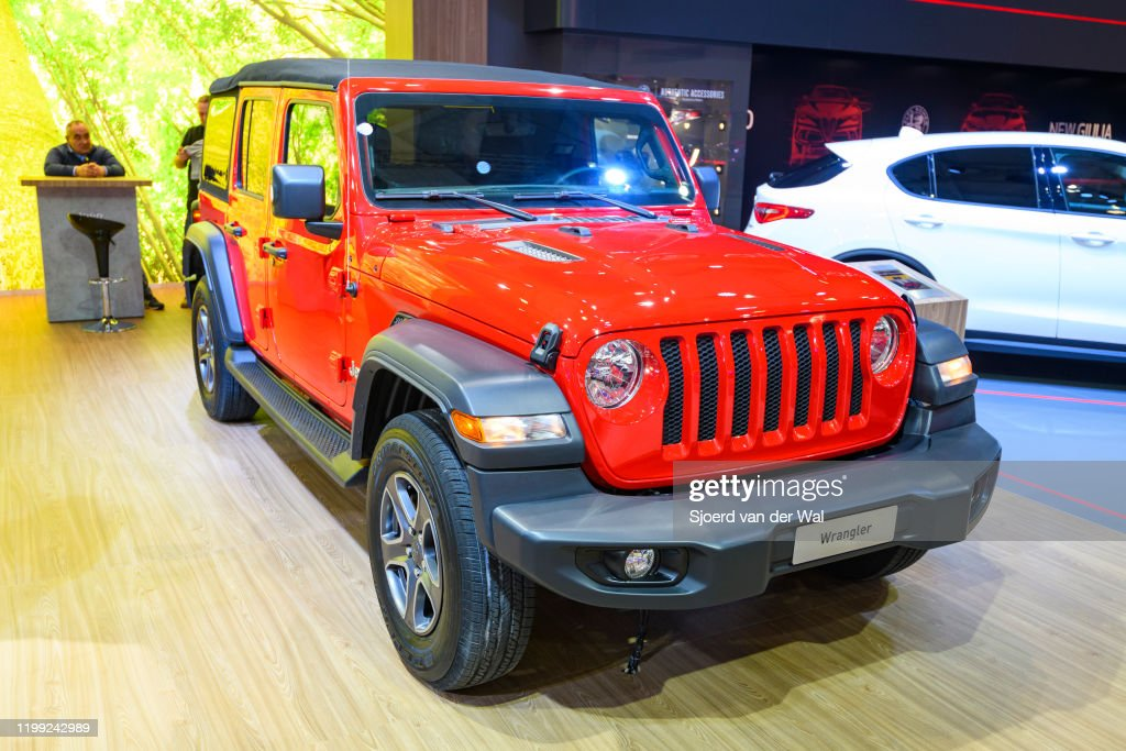 Jeep Wrangler 4x4 Off Road Vehicle On Display At Brussels Expo On News Photo Getty Images