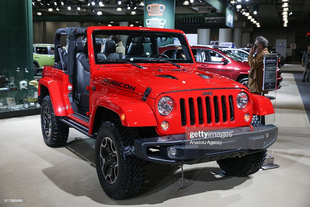 jeep wrangler stock photos and picturesjeep wrangler model car is on display during the 116th new york international auto show at