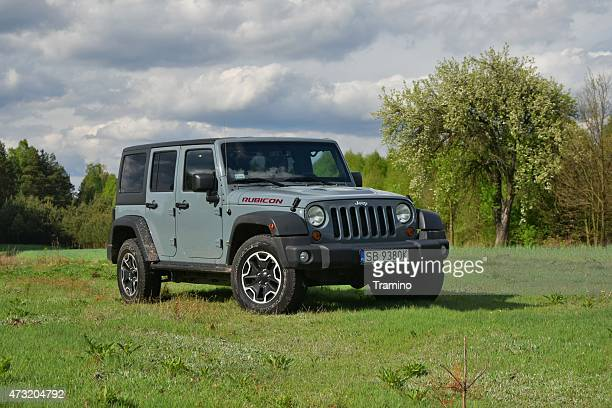 Jeep Wrangler on the grass