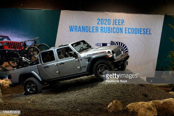 """Jeep Wrangler Rubicon Ecodiesel is on display at the 112th Annual Chicago Auto Show at McCormick Place in Chicago, Illinois on February 7, 2020. """"n"""