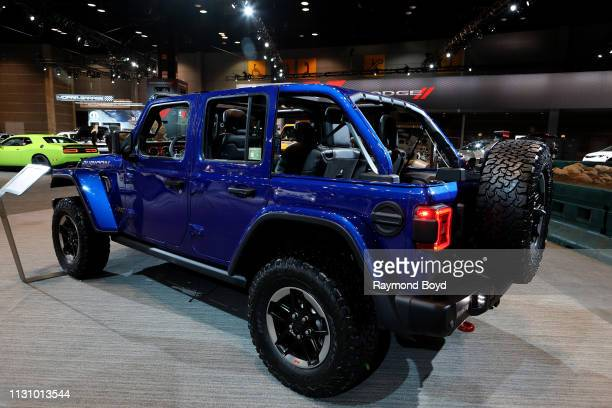 Jeep Wrangler Rubicon is on display at the 111th Annual Chicago Auto Show at McCormick Place in Chicago, Illinois on February 8, 2019.
