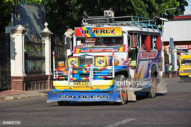 jeepney bus. cebu city, phillipines - jeepney stock pictures, royalty-free photos & images