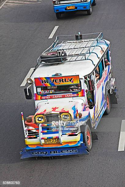 jeepney bus, cebu city, phillipines - jeepney stock pictures, royalty-free photos & images