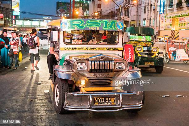 jeepney in manila, philippines - manila stock photos and pictures