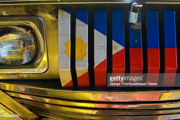 jeepney juan - filipino flag stock pictures, royalty-free photos & images