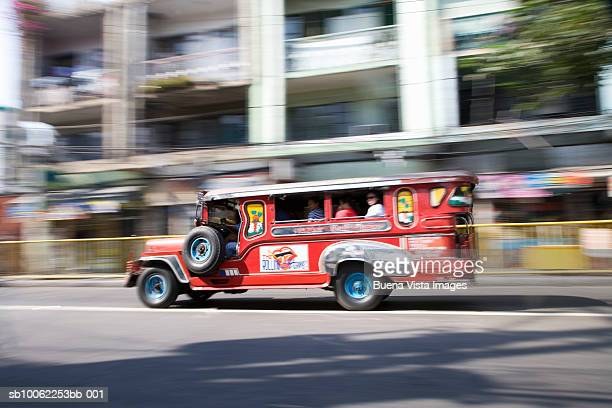Jeepney on street (blurred motion)