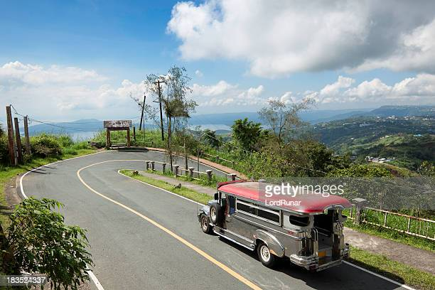 jeepney ride - filipino culture stock pictures, royalty-free photos & images
