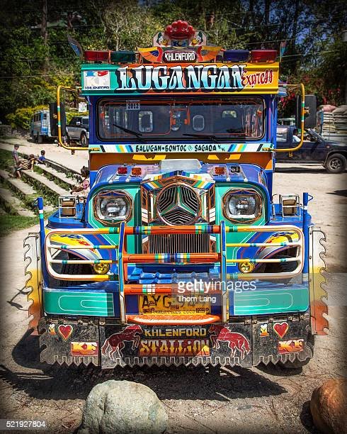 jeepney, sagada, the philippines - jeepney stock pictures, royalty-free photos & images