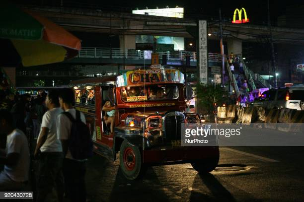 A jeepney waits for potential passengers in Manila Philippines on Friday February 3 2018 The Jeepney has become a symbol of Filipino culture through...