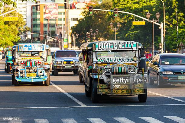 jeepneys in ermita - manila philippines stock pictures, royalty-free photos & images
