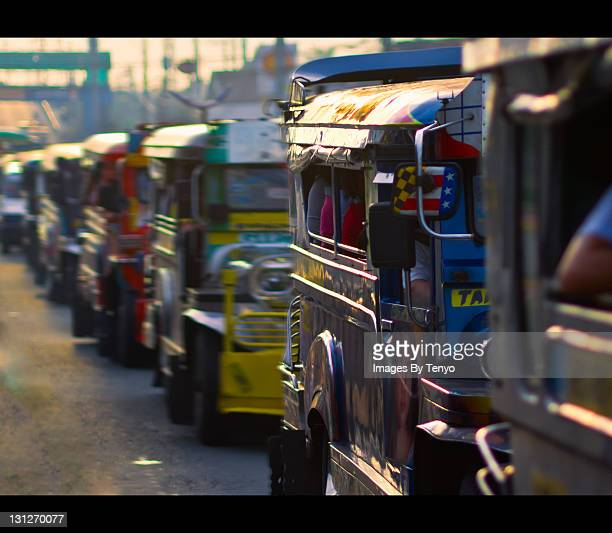 jeepneys - jeepney stock pictures, royalty-free photos & images