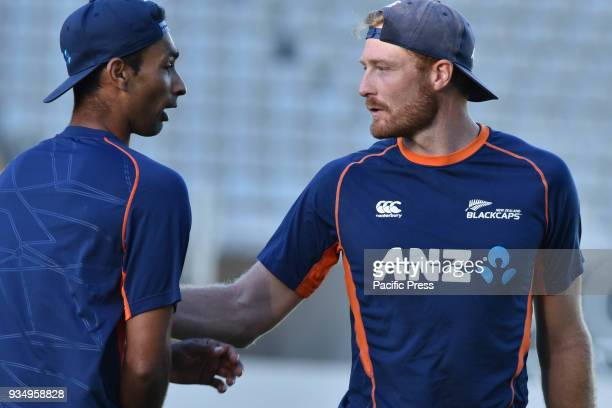 Jeet Raval and Martin Guptill of Blackcaps at Eden Park in Auckland A test match against England is scheduled on Mar 22