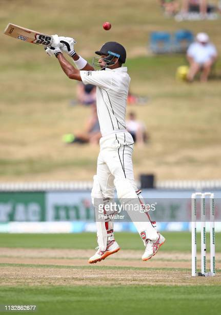 Jeet Raval of New Zealand bats during day two of the First Test match in the series between New Zealand and Bangladesh at Seddon Park on March 01...
